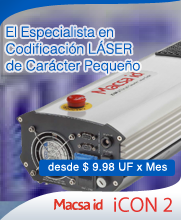Codificador Láser Pequeño Caracter iCON2 MACSA ID en Chile - LAINK CHILE - LEIBINGER - MACSA ID - BLUHM WEBER